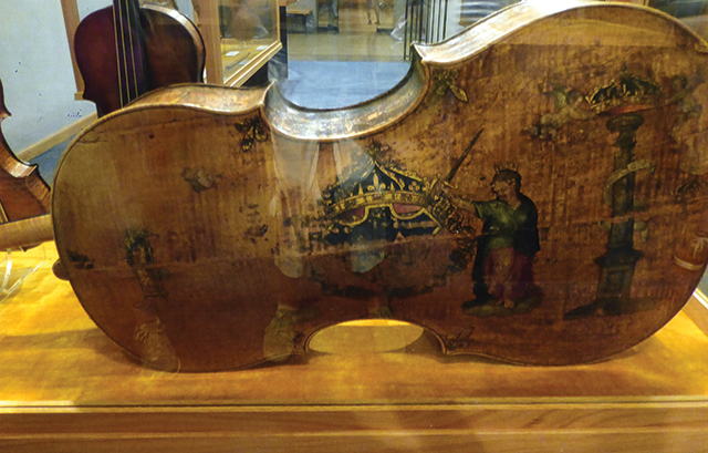 Early Italian-made violin at the National Music Museum, Vermillion. Photo by Carla Waldemar
