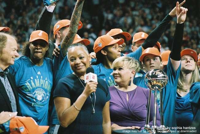 10.04.17 Minnesota Lynx 85 Los Angeles Sparks 76 WNBA Finals Game 5  Post Game Celebration University of Minnesota Minneapolis MN