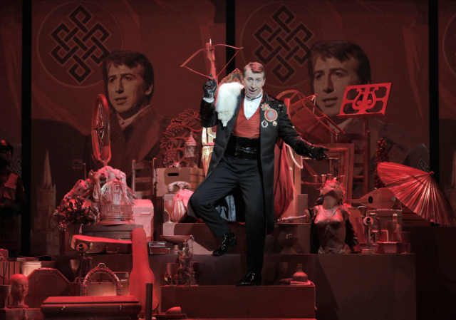 Joshua Dennis as the Duke in Minnesota Opera new production of Rigoletto. Photo by Cory Weaver