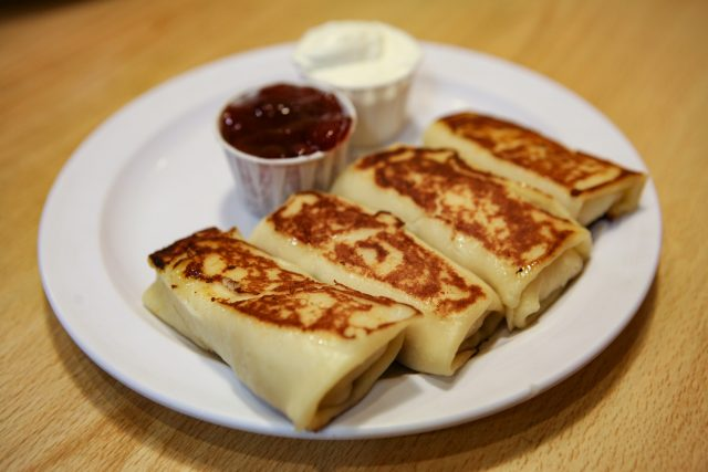 Don't miss out on Cecil's stellar cream cheese blintzes.