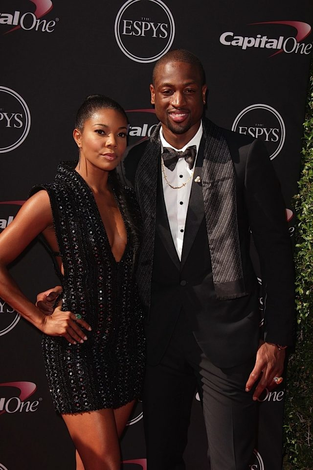 LOS ANGELES - JUL 17:  Gabrielle Union, Dwayne Wade arrives at the 2013 ESPY Awards at the Nokia Theater on July 17, 2013 in Los Angeles, CA
