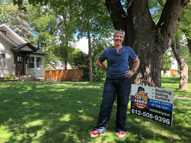 Renda Baird owns Renda The Roofer, which specializes in exterior home repair and maintenance. Photo by Sara Lechowich