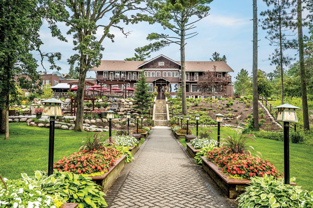 Located on the shores of Gull Lake, Grand View Lodge offers hotel rooms to nine-bedroom cabins. The Main Lodge is on the National Register of Historic Places. Photo courtesy of Grand View Lodge