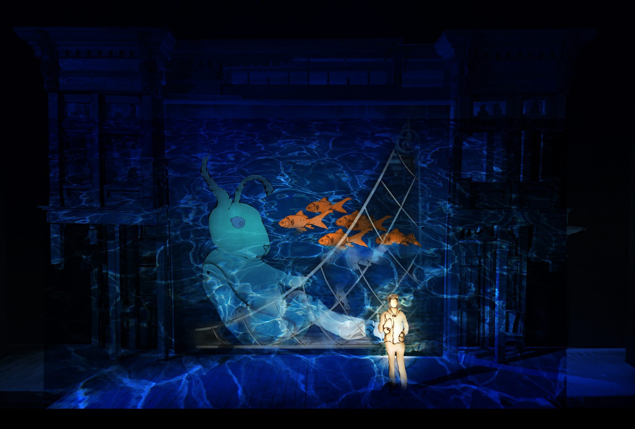 Minnesota Opera; Edward Tulane set rendering, design by Walt Spangler