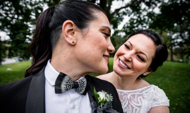 Real Weddings: Erin Seiner and Leanna Chapman