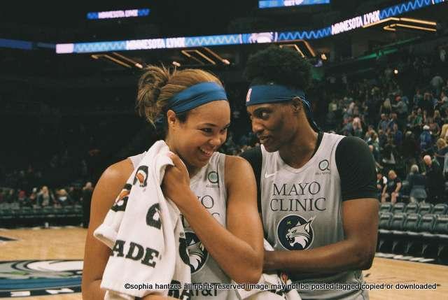 Napheesa Collier Sylvia Fowles Captains  WNBA  Minnesota Lynx
