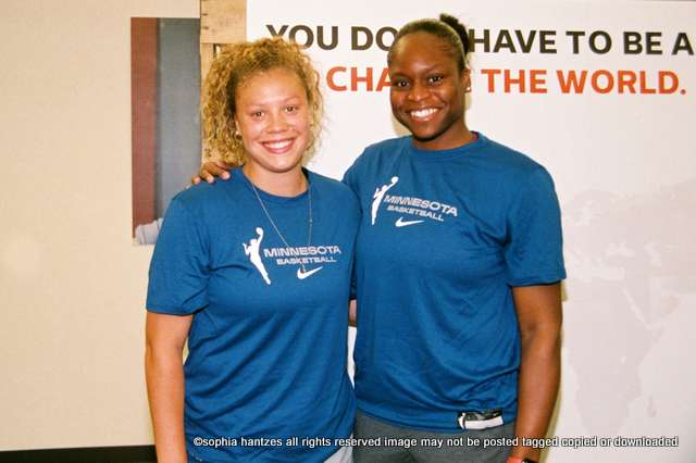 WNBA Minnesota Lynx Players Rachel Banham and Karima Christmas-Kelly