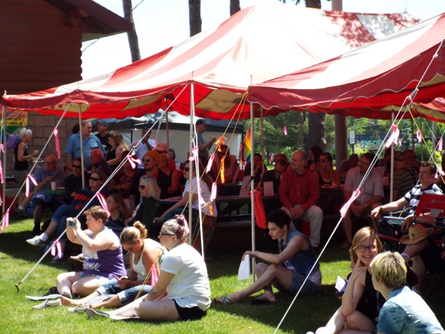 Early ECMN Prides were held in Voyageurs Park, just outside of Pine City.