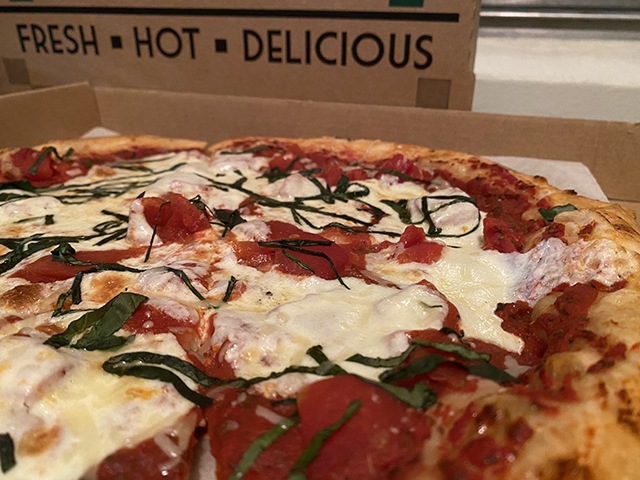 Margherita Pizza from Tommie's. Photo by Holly Peterson