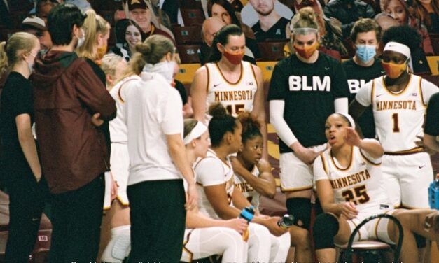 03.01.21  University of Minnesota Golden Gophers Women's Basketball Team Play Through Pandemic and Stand Up For Justice Minneapolis MN