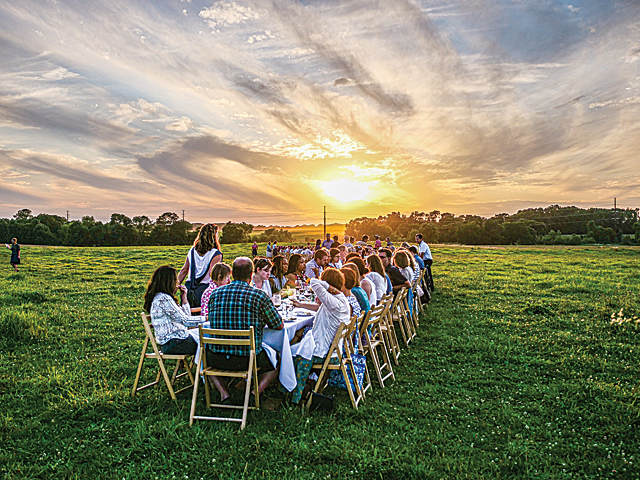 Events like Farm Supper and Family Day are set against an unparalleled scenic backdrop. Photo courtesy of Tangletown Gardens