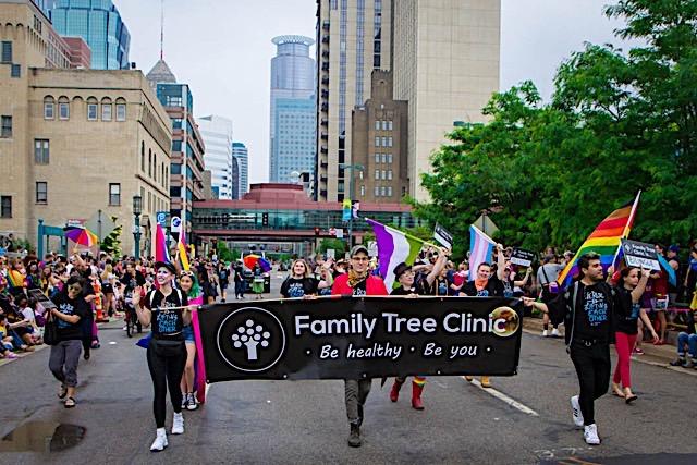 Family Tree Clinic at Pride. Photo courtesy of Family Tree Clinic.