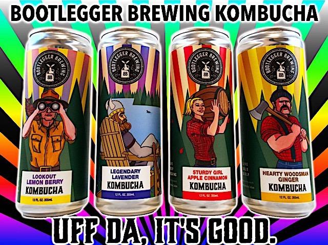 Photo courtesy of Bootlegger Brewing Kombucha.