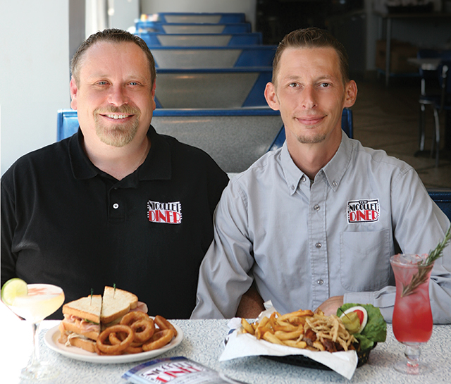 The Nicollet Diner owners Sam Turner and Dion Coker. Photo by Mike Hnida