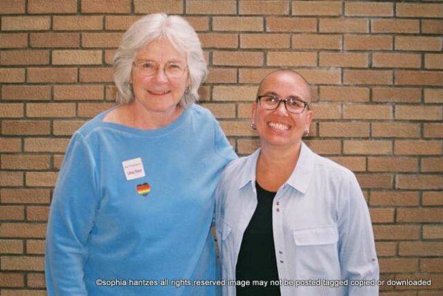 Twin Cities Pride 2021 Grand Marshal  Award Winners l-r  Jan Malcolm Commissioner  Minnesota Department of Health  Nic Zappo American Sign Language Interpreter