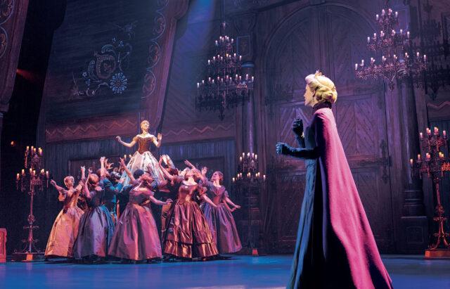 Caroline Innerbichler (Anna), Caroline Bowman (Elsa), and the Company of Frozen North American Tour